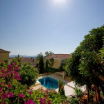 Panoramic views of our pool - Thimaras Traditional Residences